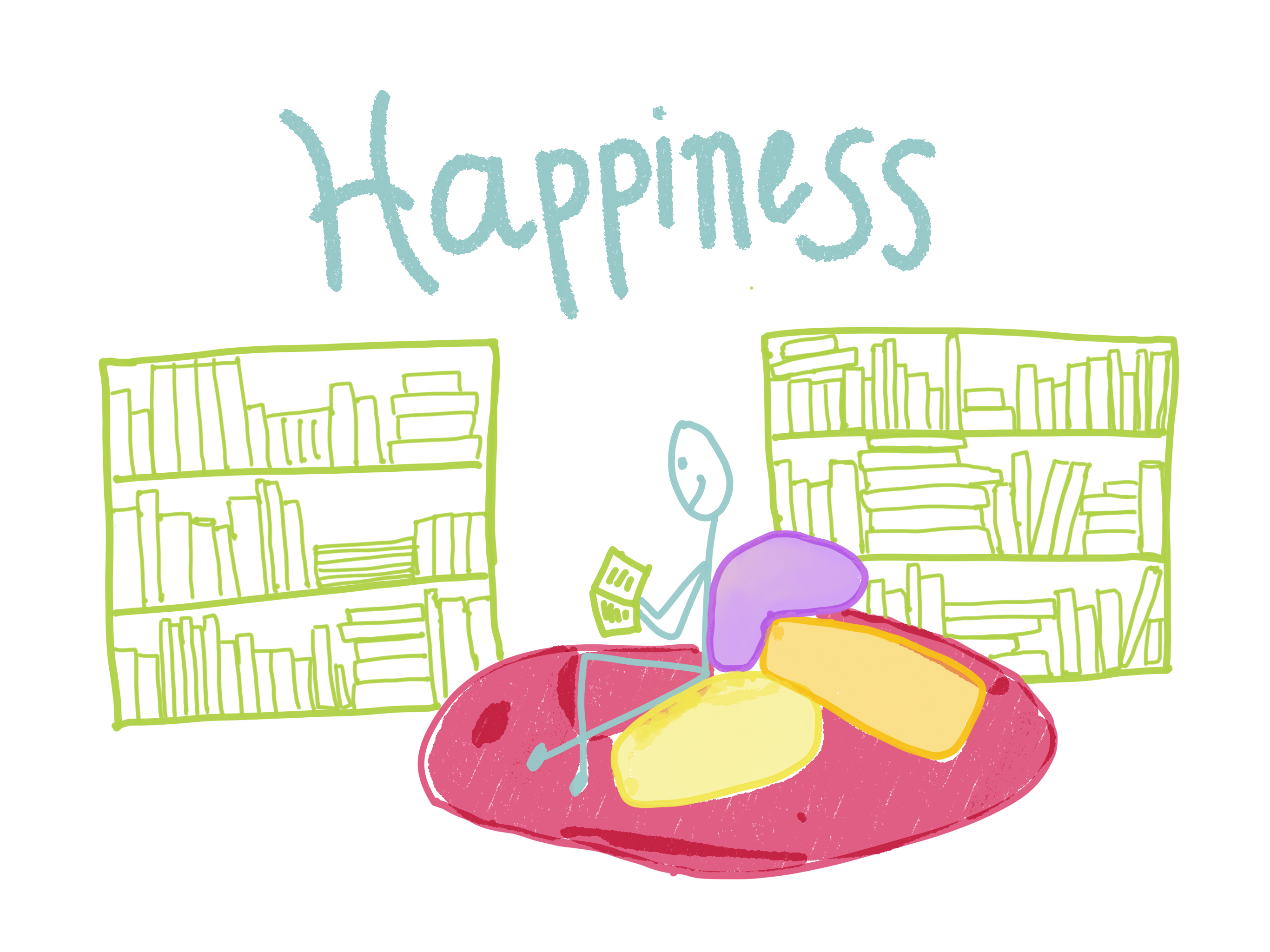 Happiness is books