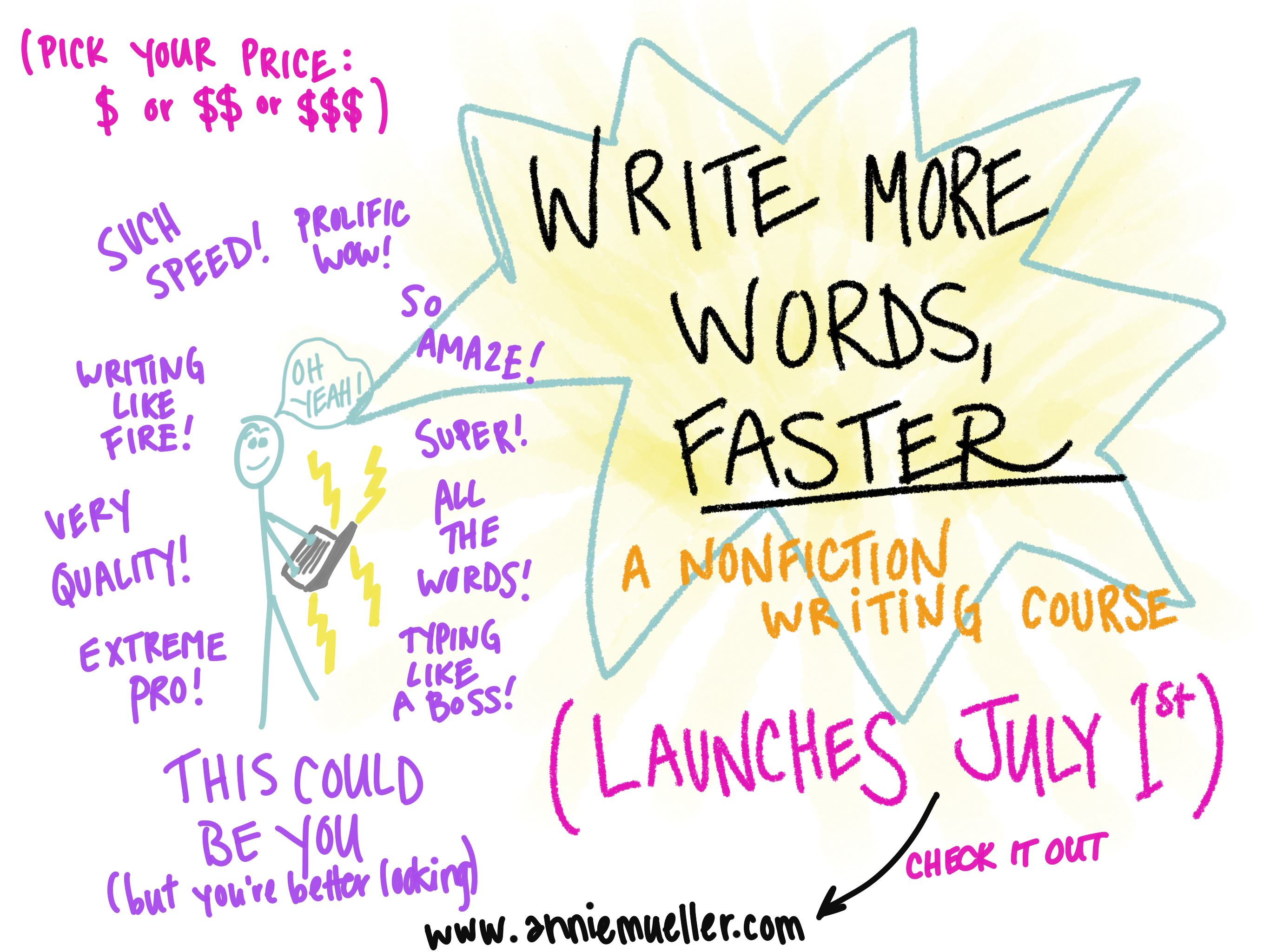 WRITE MORE WORDS FASTER YEAH